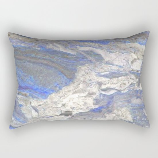 Arabescato-Orobico-Blue-Marble Rectangular Pillow
