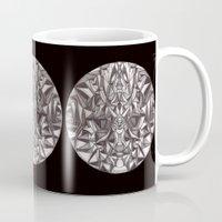 cheshire cat Mugs featuring Cheshire by IRIS Photo & Design