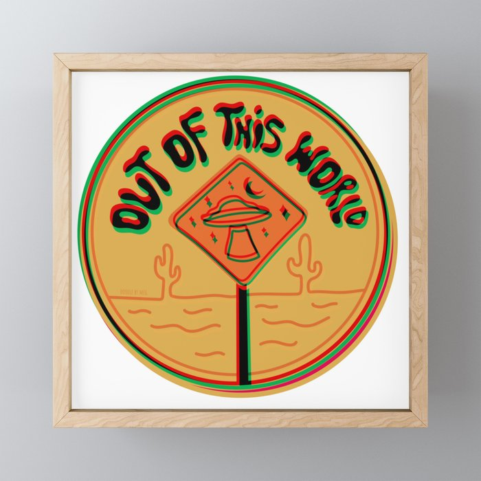 Out of this world in 3d Framed Mini Art Print