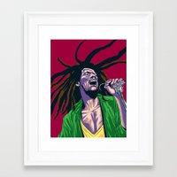 rasta Framed Art Prints featuring Rasta by Kyu Shim