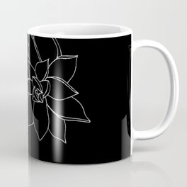 Succulents B&W Coffee Mug