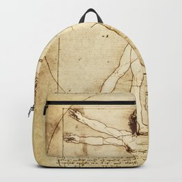 Vitruvian Man Drawing by Leonardo da Vinci Backpack