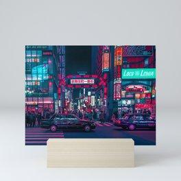 Cyberpunk Tokyo Street Mini Art Print