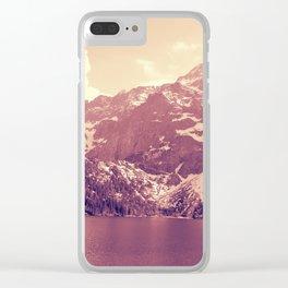 Vintage Landscape - Morskie Oko Clear iPhone Case