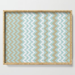 Chevrons and Dots Serving Tray