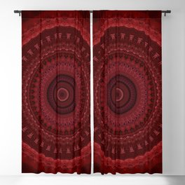 RED Mandala Design Blackout Curtain