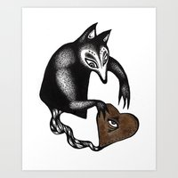 Strange Beautiful Creatures Keep Stealing My Heart Art Print