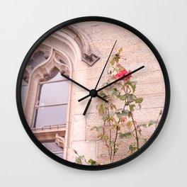 Rose Window Wall Clock