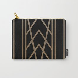 BLACK AND GOLD 2 (abstract art deco geometric) Carry-All Pouch