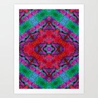 kilim Art Prints featuring Digital Kilim by Jellyfishtimes