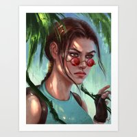 megan lara Art Prints featuring Lara by LaraRobsGraves