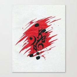 Euphoric Manic Music Canvas Print