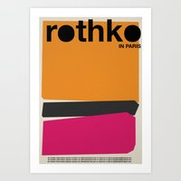 rothko Art Prints featuring rothko by RICCARDO CAPPELLUTI