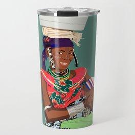 Mother and Child 4 - Benin Lady and Child  Travel Mug