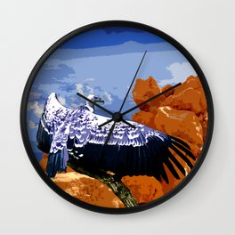 Vulture Spirit Guide Wall Clock
