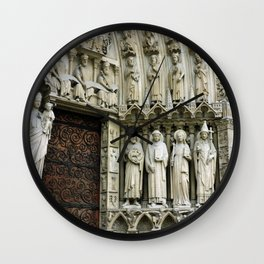Notre Dame Cathedral Paris Detail Wall Clock