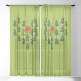 Camping Love Sheer Curtain