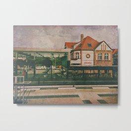 West German Train Station  Metal Print