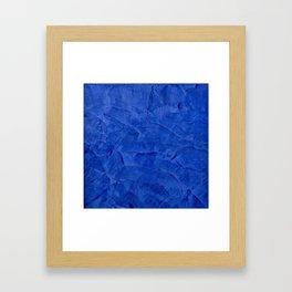 Dark Blue Ombre Burnished Stucco - Faux Finishes - Venetian Plaster Framed Art Print