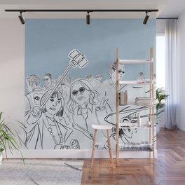 CROWD #1 - BLUE Wall Mural