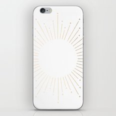 Simply Sunburst in White Gold Sands on White iPhone & iPod Skin