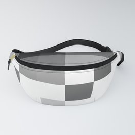 Gray Scale In Pixels Fanny Pack