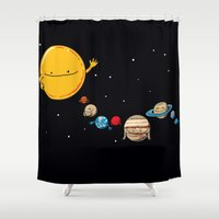 planets Shower Curtains featuring Planets by awkwardyeti