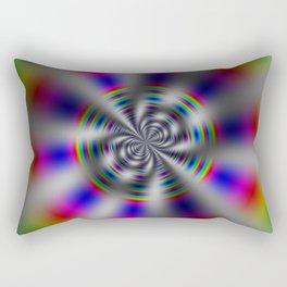 Fractal Rainbow Wheel Rectangular Pillow