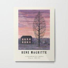 Poster-Rene Magritte-La Recherche de l'absolu. Metal Print