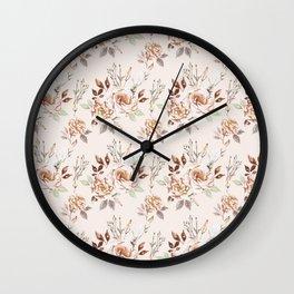 Lisianthus Beige - Little Pattern Wall Clock