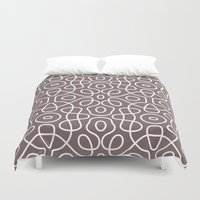 tesla Duvet Covers featuring Tesla Pattern 2 by BeverlyJane