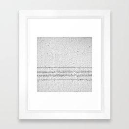 VINTAGE FARMHOUSE GRAIN SACK Framed Art Print