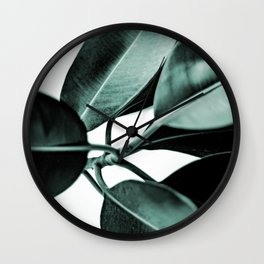 Minimal Rubber Plant Wall Clock