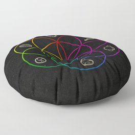 Seed of Life Floor Pillow