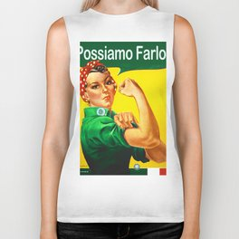 Italian Rosie The Riveter Woman Women Empowerment Women's Rights Italian American Biker Tank