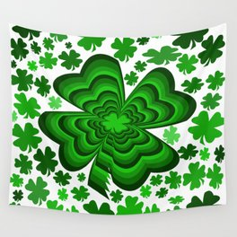 Lucky 4 Leaf Clover Wall Tapestry