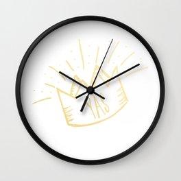 YAS QUEEN (gold) Wall Clock