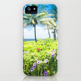 Ipomoea Keanae Morning Glory Maui Hawaii iPhone Case