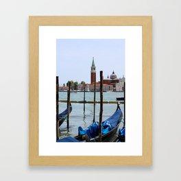 Venetian landscape Framed Art Print