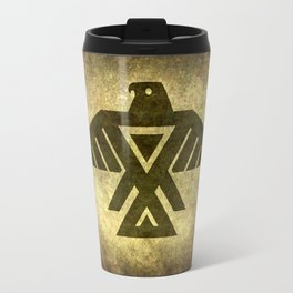 Symbol of the Anishinaabe, Ojibwe (Chippewa) on  parchment Travel Mug