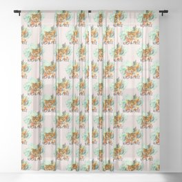 Wild and Free Tiger Sheer Curtain