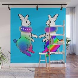Rainbow Rabbit Wall Mural