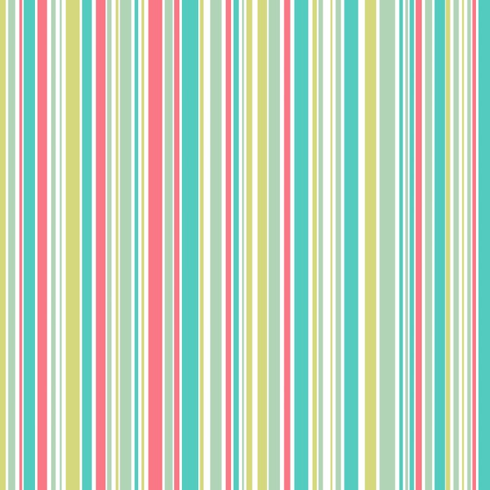Candy Stripe Pastels Duvet Cover