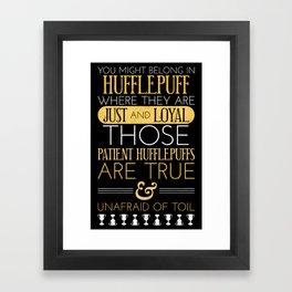 Hufflepuff Framed Art Print