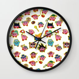 Kirby is swallowing everyone in here. Wall Clock