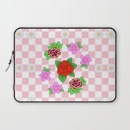 Pixel Flower Pattern Laptop Sleeve