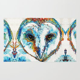 Colorful Barn Owl Art - Birds by Sharon Cummings Rug