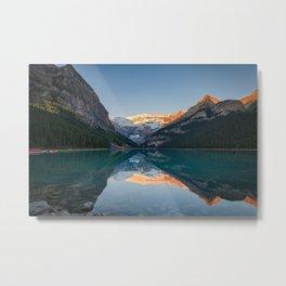 Lake Louise Sunrise Reflection Canadian Rockies Banff National Park Landscape  Metal Print