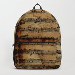 Grunge Sheet Music Music-lover's Design Backpack