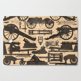Vintage Illustration of Cannons & Artillery (1907) Cutting Board